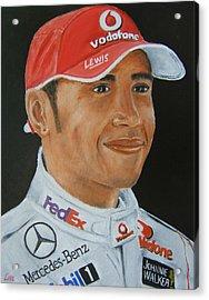 Lewis Hamilton Acrylic Print