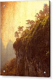 Li River Mountainside Acrylic Print