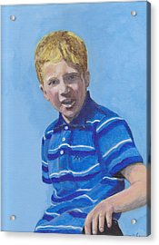 Liam Acrylic Print by Peter Edward Green