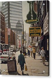 Liberty Avenue In The 80s Acrylic Print by James Guentner