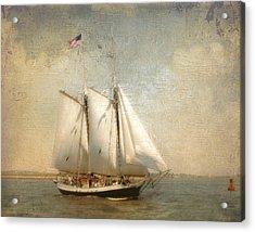 Liberty Clipper On Boston Harbor Acrylic Print