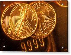 Liberty Gold Coins Acrylic Print