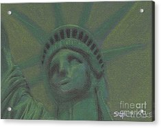 Liberty In Green Acrylic Print by Stephen Cheek II