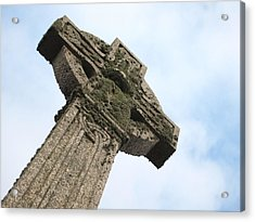 Lichen Cross Acrylic Print by Christopher Mercer