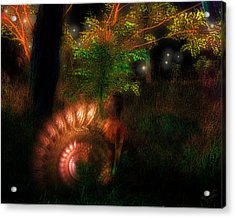 Lichtwesen Acrylic Print by Mimulux patricia no No