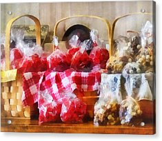 Licorice And Chocolate Covered Peanuts Acrylic Print by Susan Savad