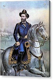 Lieutenant General Ulysses S Grant Acrylic Print by Photo Researchers