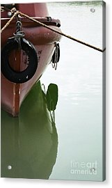 Acrylic Print featuring the photograph Life-boat Reflection by Agnieszka Kubica