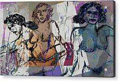Life Drawing 3 Acrylic Print by Noredin Morgan