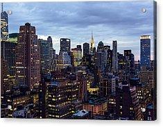Life In The Big City Acrylic Print by Janet Fikar