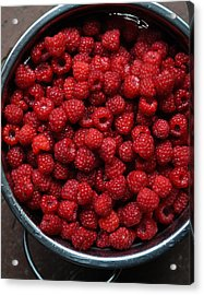 Life Is A Bowl Of Raspberries Acrylic Print by Ronda Broatch