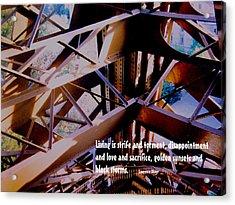 Life Is Strife Acrylic Print by Ian  MacDonald