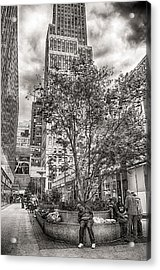 Acrylic Print featuring the photograph Life On The Street by Steve Zimic