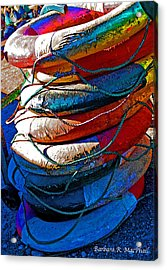 Life Preservers Acrylic Print by Barbara MacPhail