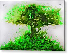 Acrylic Print featuring the painting Life Tree by Lolita Bronzini