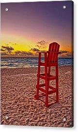 Lifeguard Chair Acrylic Print by Brian Mollenkopf