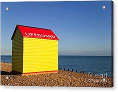Lifeguard Hut Acrylic Print by Richard Thomas