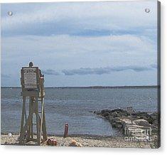 Lifeguard On Duty  Acrylic Print by Rita Brown