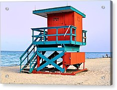 Lifeguard Tower Acrylic Print by Andres LaBrada