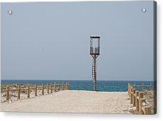 Lifeguard Tower Cabo De Gata Acrylic Print