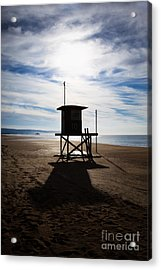 Lifeguard Tower Newport Beach California Acrylic Print by Paul Velgos