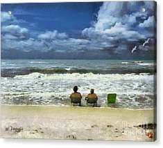 Acrylic Print featuring the digital art Life's A Beach by Rhonda Strickland