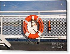 Lifesaver On The Spirit Of British Columbia Acrylic Print by Ei Katsumata