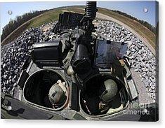 Light Armored Vehicle Gunners Prepare Acrylic Print