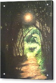Light At The End Of The Trail Acrylic Print by Samuel McMullen