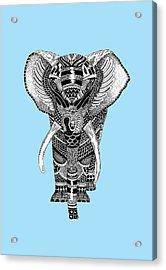 Light Blue Elephant Acrylic Print