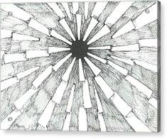Light In The Dark - Sketch Acrylic Print by Robert Meszaros