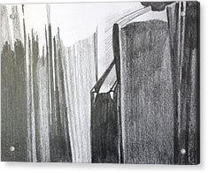 Light On Books Acrylic Print