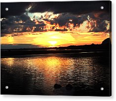 Light On The Water Acrylic Print by Eddie Armstrong