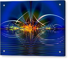 Acrylic Print featuring the digital art Light On The Water by Mario Carini