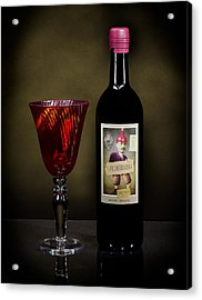 Light Paint Red Wine Acrylic Print by Noah Katz