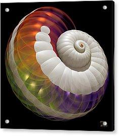 Acrylic Print featuring the digital art Light Shell by Manny Lorenzo
