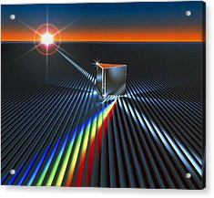 Light Split Into Colours By A Prism Acrylic Print