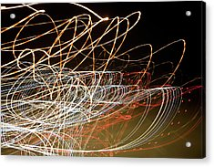 Light Trails At Night Acrylic Print by Frederick Bass