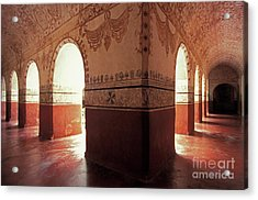 Acrylic Print featuring the photograph Light Under The Arches Tepoztlan Mexico by John  Mitchell