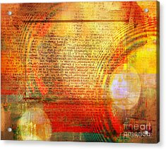 Light Word Acrylic Print by Fania Simon