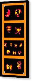 Lighted Jack-o-lanterns Tetraptych Acrylic Print by Steve Ohlsen