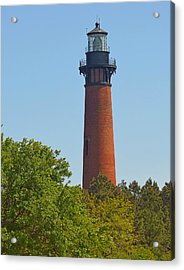 Lighthouse At Corolla N C Acrylic Print by J D  Whaley