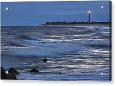 Lighthouse At Twilight Acrylic Print