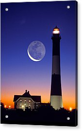 Lighthouse Crescent Moon Acrylic Print