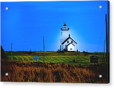 Lighthouse In Darkness Acrylic Print by Rick Bragan