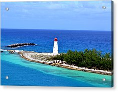Acrylic Print featuring the photograph Lighthouse In Nassau by George Bostian