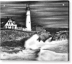 Lighthouse Acrylic Print by Jerry Winick