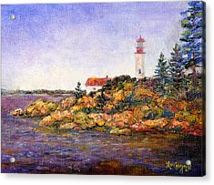 Acrylic Print featuring the painting Lighthouse by Lou Ann Bagnall