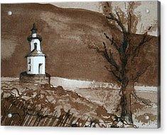 Lighthouse On Wisconsin Point Acrylic Print