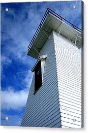 Lighthouse Prince Edward Island Acrylic Print by Ann Powell